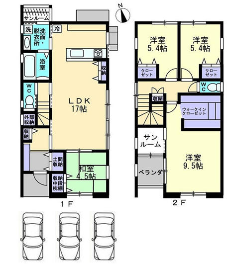富山市北代 新築分譲住宅