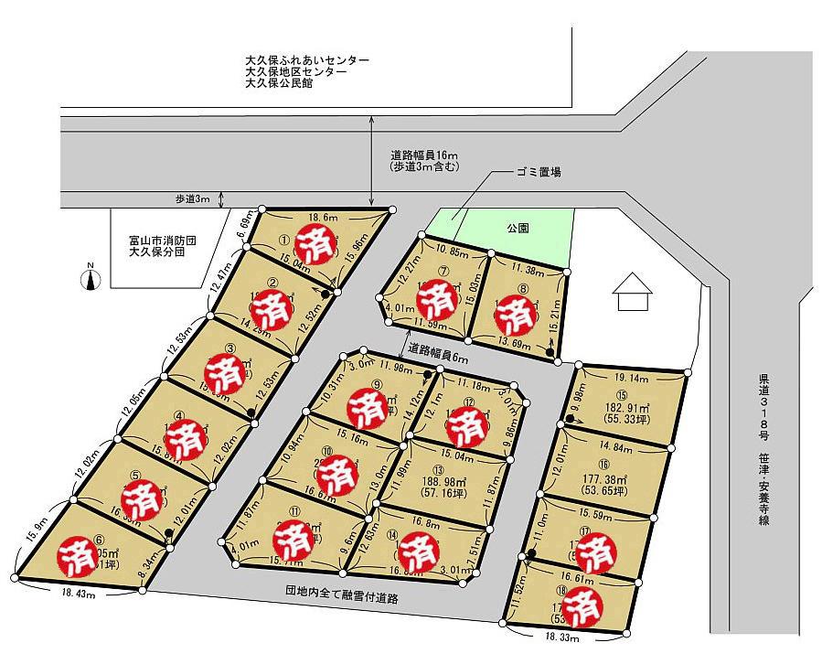 区画図:ウィンディーパーク下大久保
