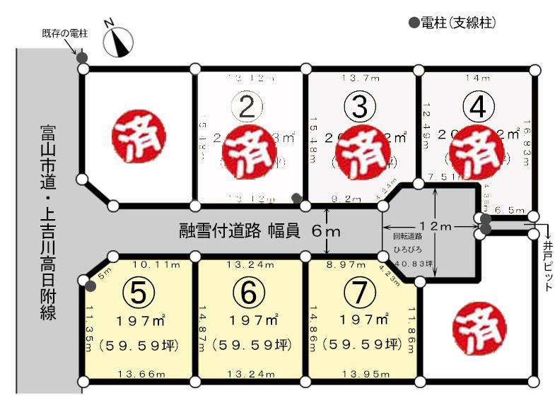 区画図:プレミアムタウン婦中町高日附